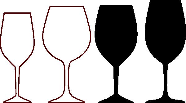 wine glasses silhouette clip art at clker - vector clip art