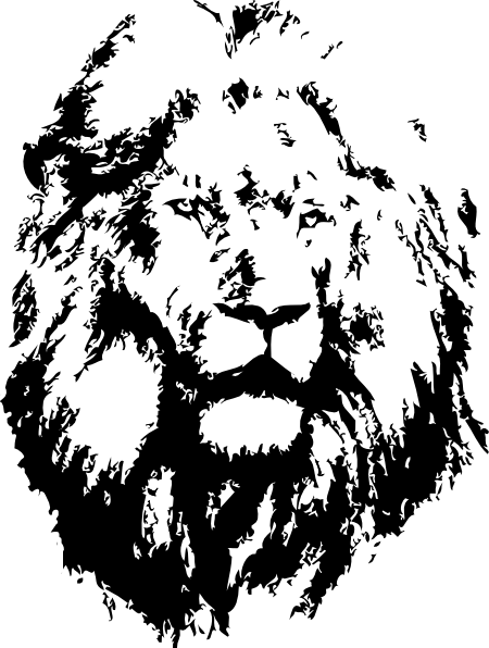 Black Lion Clip Art at...