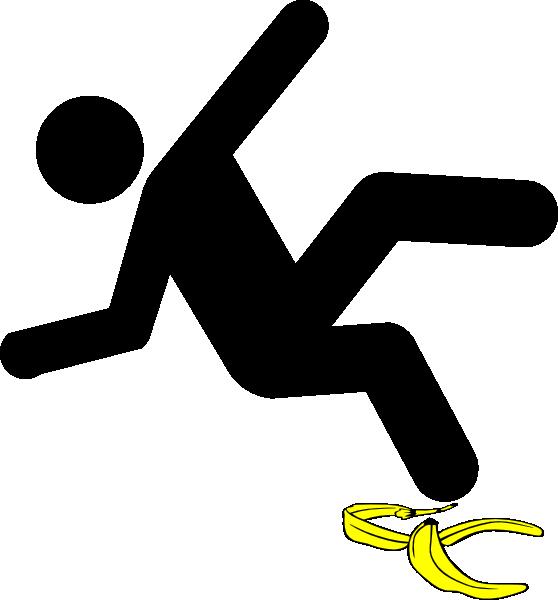 Slip Man Black Banana Clip Art At Clker Com Vector Clip