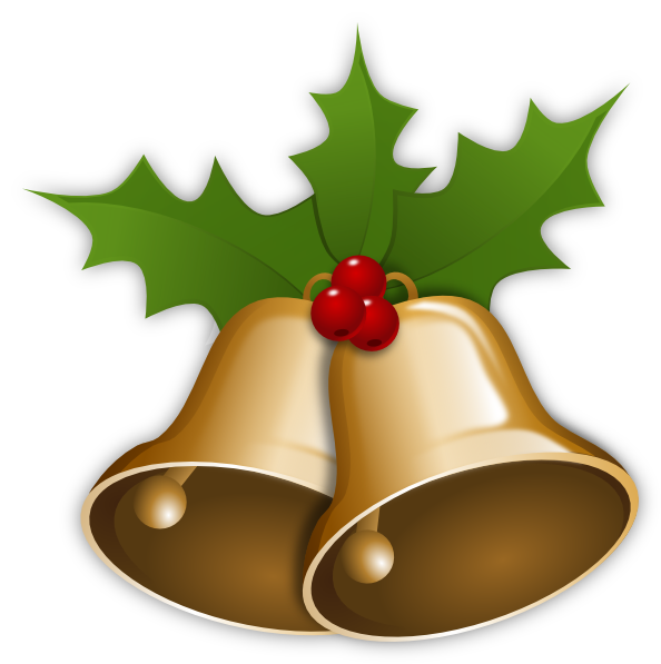Christmas Bells With Holly Clip Art At Clker.com