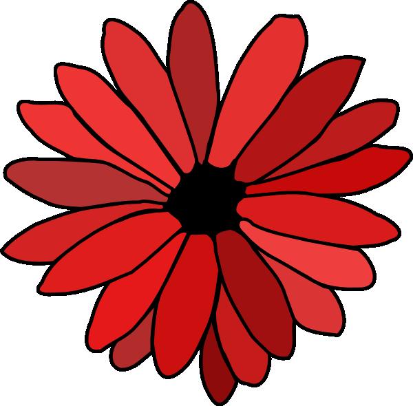 Black Flower 3 Clip Art At Clker Com: Red Flower Clip Art At Clker.com