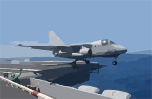 An S-3 Viking Is The Last Aircraft In History To Launch From The Flight Deck Of Uss Constellation (cv 64) Clip Art