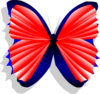 Blue And Pink Butterfly Clip Art