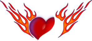 Flaming Heart Clip Art