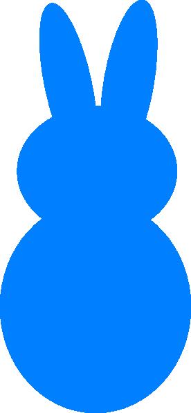 Clipart Blue Dark Peep Bunny on Big Head Stick Figure
