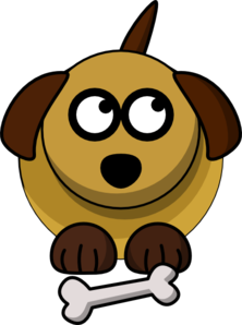 Dog Looking Right-up Clip Art