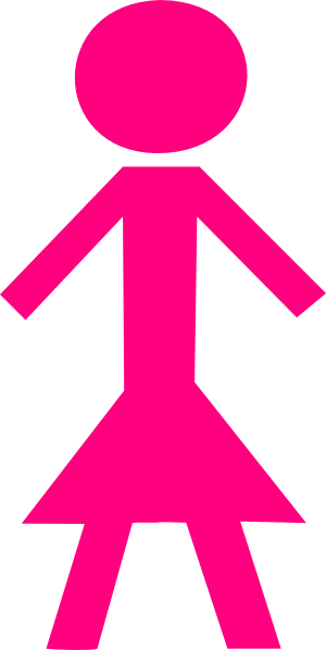 Pink female stick figure clip art at vector clip art online royalty free public - Bonhomme fille ...