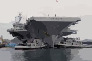The Aircraft Carrier Uss Kitty Hawk (cv 63) Gets Underway After Completing A Successful Five-month Overhaul By Ship Clip Art