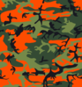 Camo Print - Hunter Orange Clip Art
