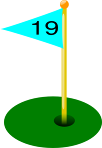 Golf Flag 19th Hole Clip Art