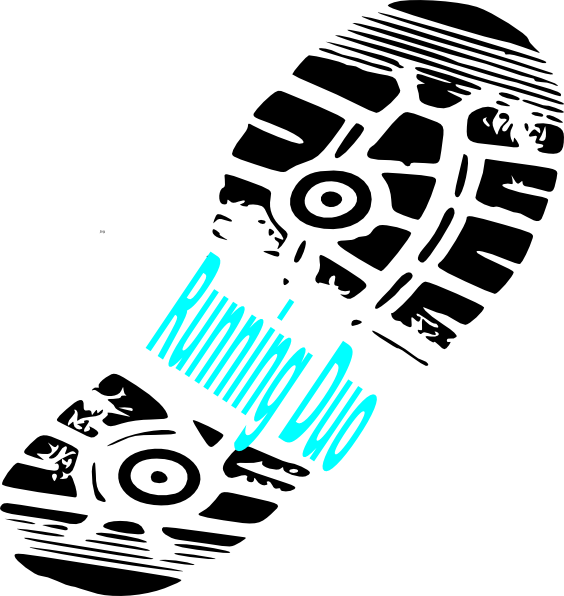 running shoe print running duo clip art at clkercom