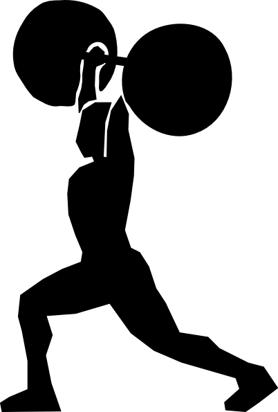 Weight lifter clip art at clker vector