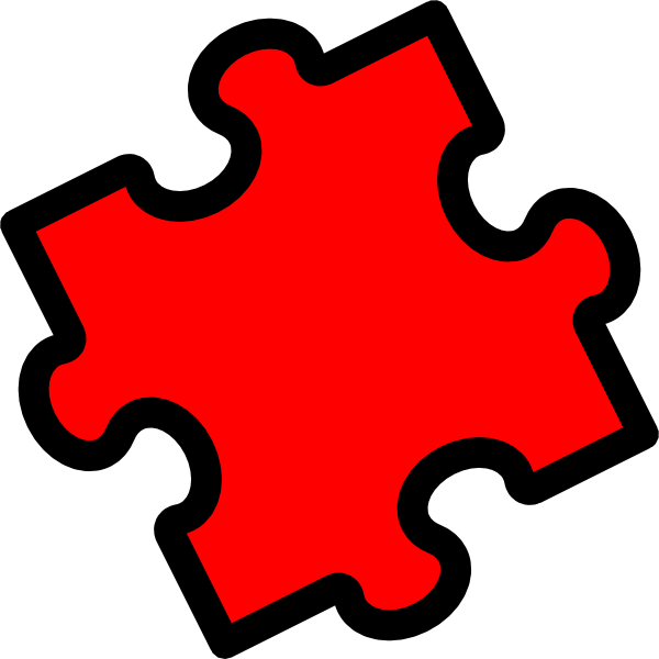 Puzzle Piece Red Clip Art at Clker.com - vector clip art ...
