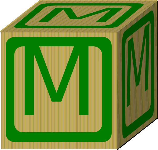 Letter Alphabet Block M Clip Art at Clker vector clip art