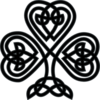 Black Celtic Shamrock Clip Art