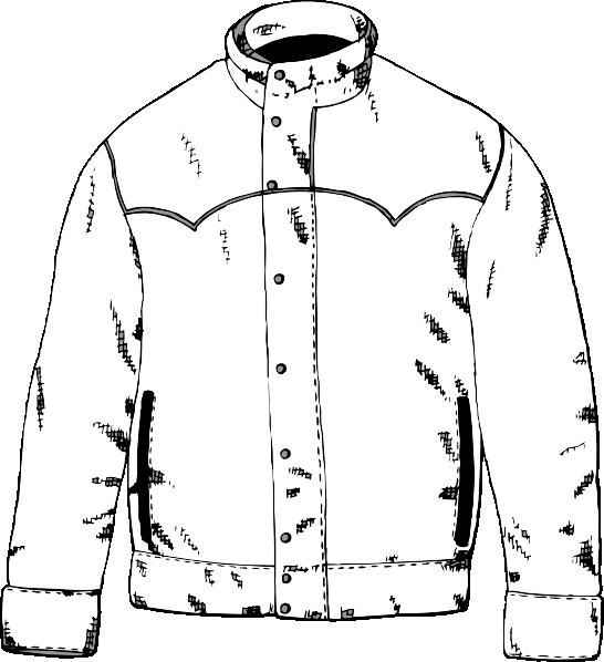 jacket outline clip art at clker com