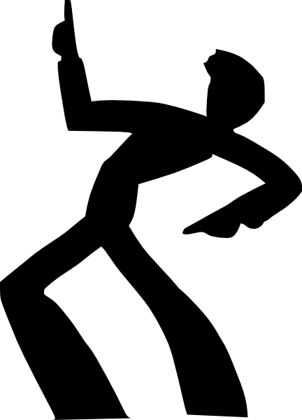 Dancing Man Silhouette Clip Art at Clker.com - vector clip ...