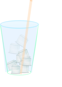 Ice Water With Straw Clip Art