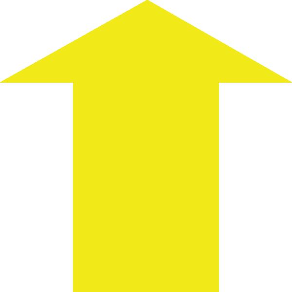 Yellow Up Arrow Clip Art at Clker.com - vector clip art ...