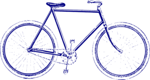 Dark Blue Bike Clip Art