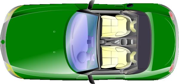 Green Car Top View Clip Art At Clker Com Vector Clip Art