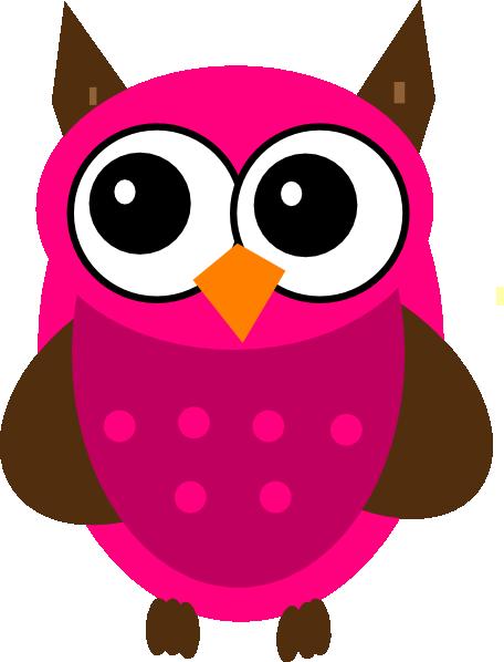 baby shower pink owl clip art at clker com vector clip art online rh clker com cute pink owl clip art pink baby owl clip art