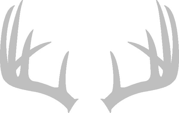 grey antler image clip art at clker com