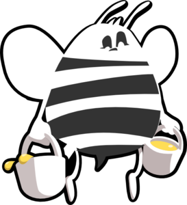 Bee Black And White Clip Art