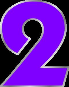 Purple Number 2 Clip Art at Clker.com - vector clip art ...