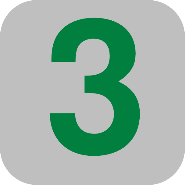 Number 3 Grey Flat Icon Clip Art At Clker Com