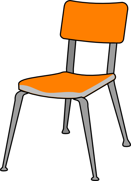 Student chair clip art at vector clip art for Designer stuhl transparent