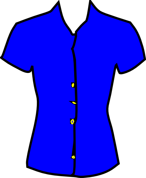 Men Who Love Black Women >> Blue Blouse Clip Art at Clker.com - vector clip art online, royalty free & public domain