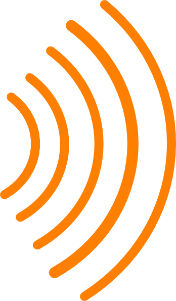 Radio Waves Orange Clip Art at Clker.com - vector clip art ...