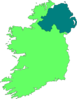 Ireland Map - Outline - 2-tone Clip Art