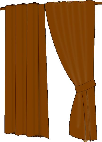Brown Curtains Clip Art At Clker Com Vector Clip Art