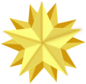 Golden Star Clip Art At Clker Com Vector Clip Art Online