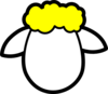 Yellow Counter Sheep Clip Art