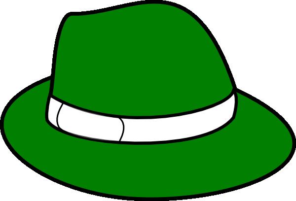Clipart Green Hat 1 on Transparent Astronaut Clip Art