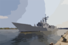 Uss Vandegrift (ffg 48) Arrives In Ho Chi Minh City, Vietnam Clip Art