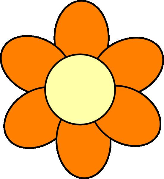Orange Flower Clip Art at Clker.com - vector clip art ...