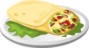 Kind Breakfast Burrito Clip Art