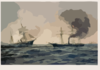 This 1922 Artwork Depicts The Sinking Of The Confederate Ship Css Alabama. Clip Art