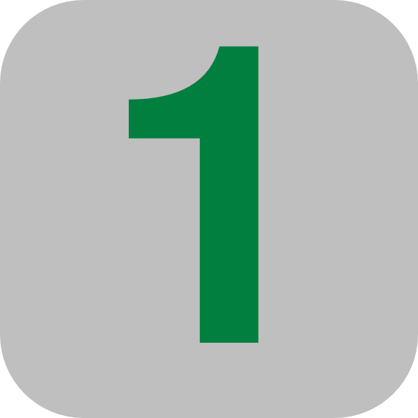 Number 1 Grey Flat Icon Clip Art At Clker Com