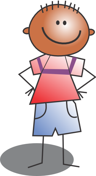 Standing Kid Cartoon Clip Art at Clker.com - vector clip ...