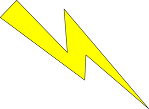 Clipart Lightning Yellow With Black Outline on Math Clip Art Black And White