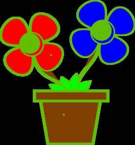 Flowers In A Vase 2 Clip Art at Clker.com - vector clip ...