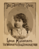 The Miniature Patti, Louise Marguerite The Wonderful Child Singer & Actress. Clip Art