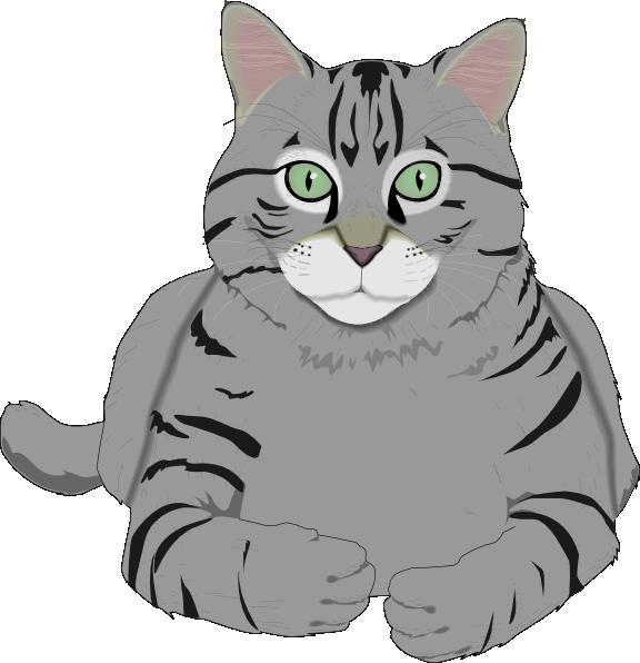 Totetude Gray Cat Clip Art at Clker.com - vector clip art ...