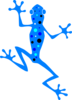 Blue Spotted Frog Clip Art