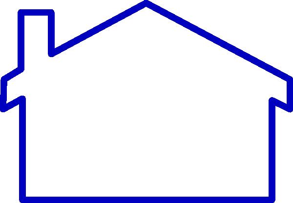 Thick Blue Line House Clip Art at Clker.com - vector clip ...